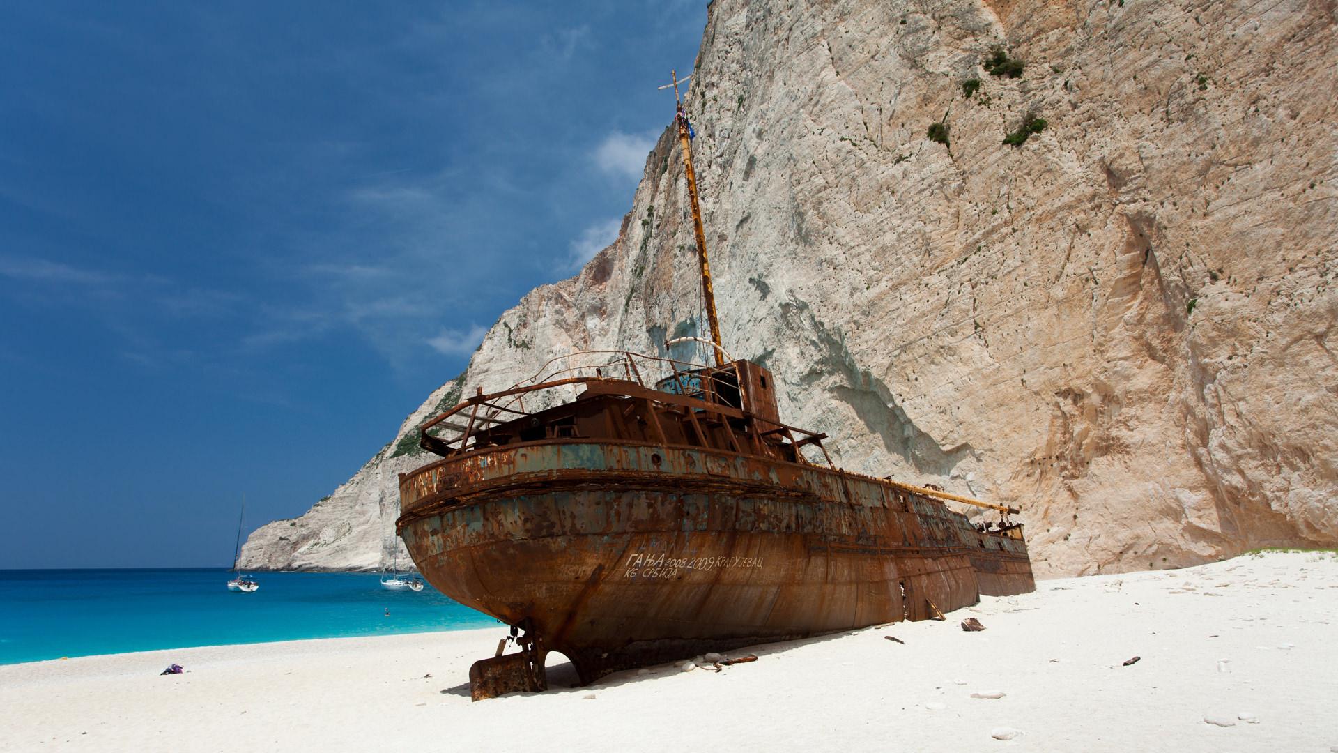 Batık Geminin Göz Alıcı Kumsalı, Navagio, Yunanistan